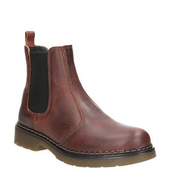 Damen-Chelsea-Boots aus Leder bata, Braun, 596-3680 - 13