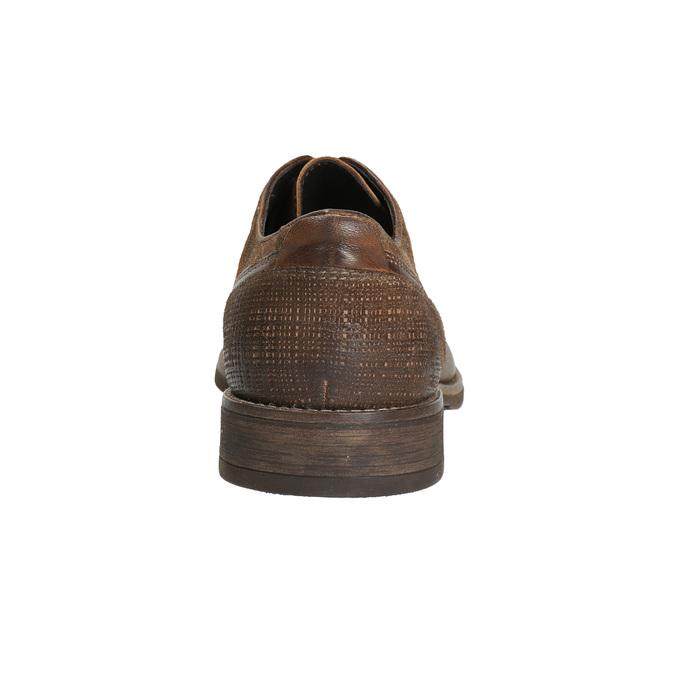 Herren-Lederhalbschuhe mit Steppung bata, Braun, 826-4610 - 17