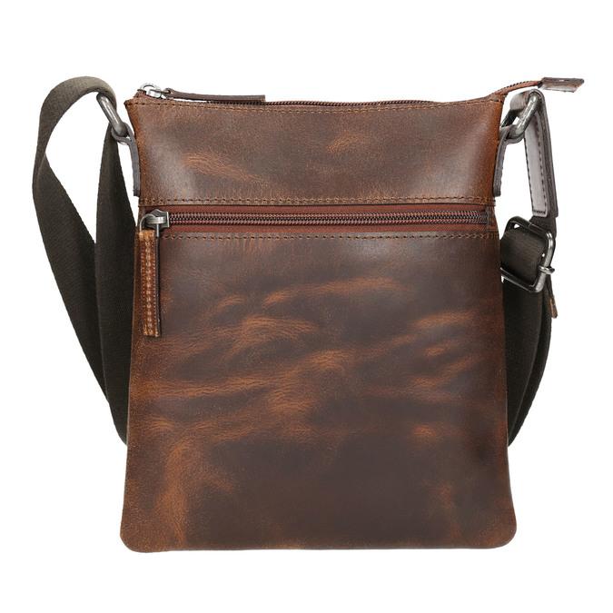 Herren-Crossbody-Tasche aus Leder, Braun, 964-4140 - 17