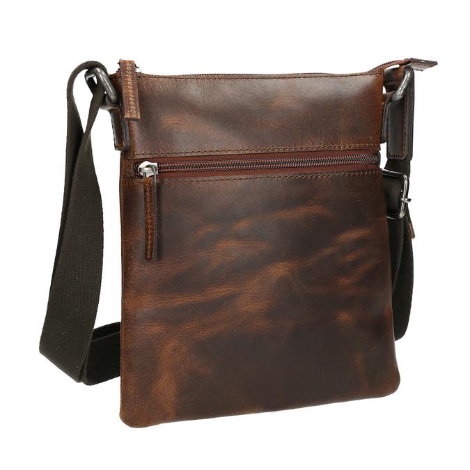 Herren-Crossbody-Tasche aus Leder, Braun, 964-4140 - 13