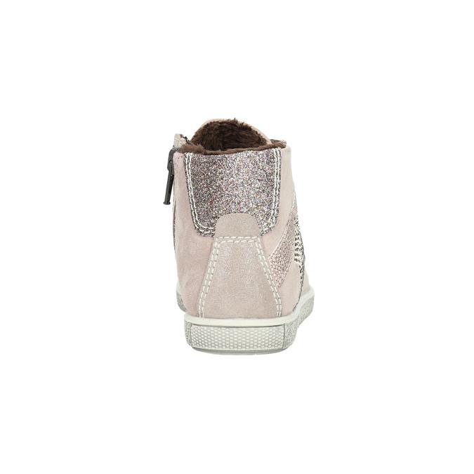 Knöchelhohe Kinder-Sneakers aus Leder mini-b, Rosa, 223-5170 - 17