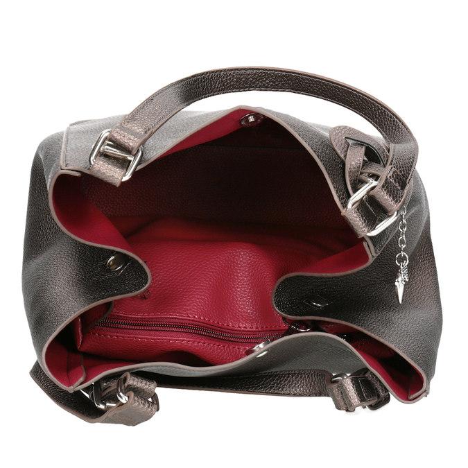 Handtasche mit silbernen Details cafe-noir, Gelb, 961-8097 - 15