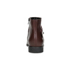 Weinrote Knöchelschuhe aus Leder bata, Rot, 596-5669 - 17