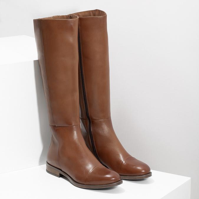 Braune Lederstiefel bata, Braun, 594-4637 - 26