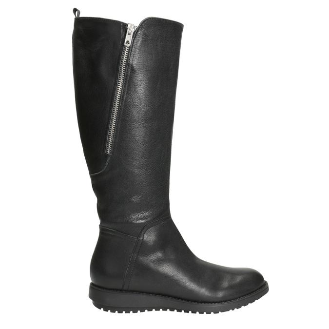 Damenstiefel aus Leder mit Reißverschluss flexible, Schwarz, 594-6651 - 26