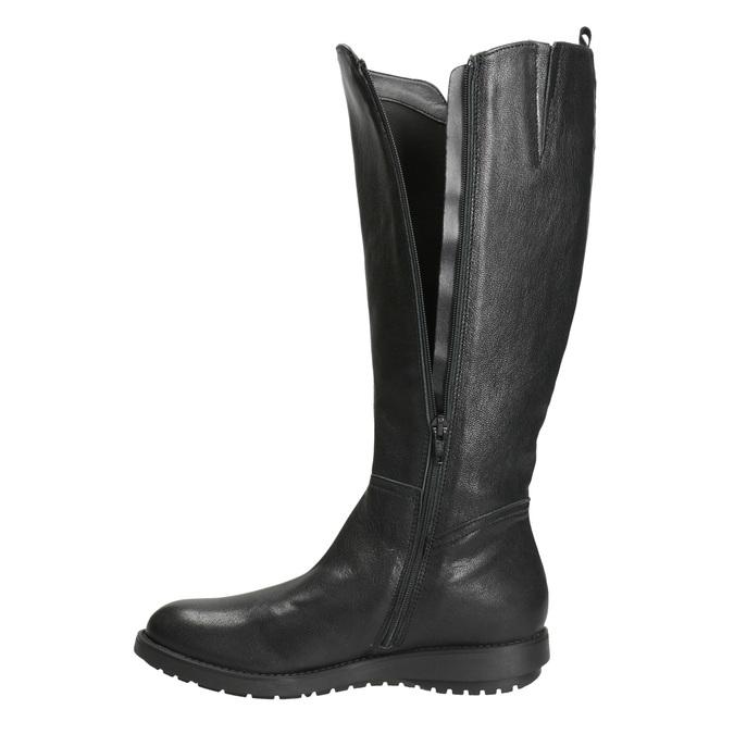 Damenstiefel aus Leder mit Reißverschluss flexible, Schwarz, 594-6651 - 15