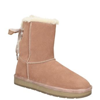 Velours-Stiefel für Damen bata, Rot, 593-5604 - 13