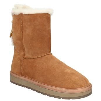 Velours-Stiefel für Damen bata, Braun, 593-4604 - 13