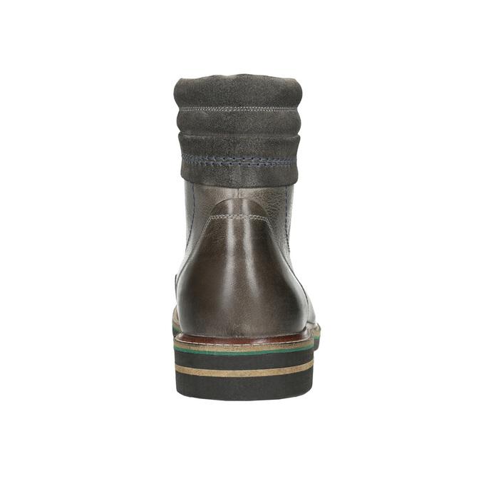 Stiefeletten aus Leder bata, Grau, 896-2686 - 17