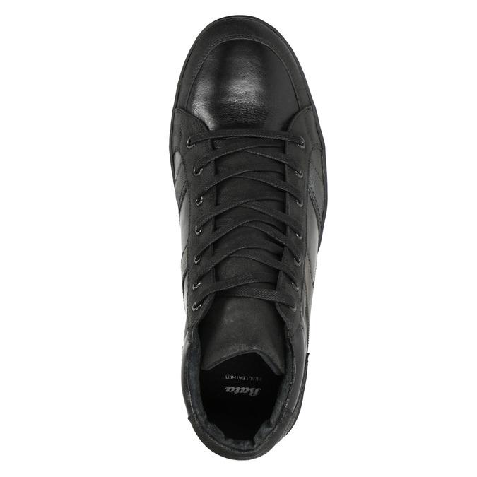 Knöchelhohe Herren-Sneakers aus Leder bata, Schwarz, 844-6644 - 15