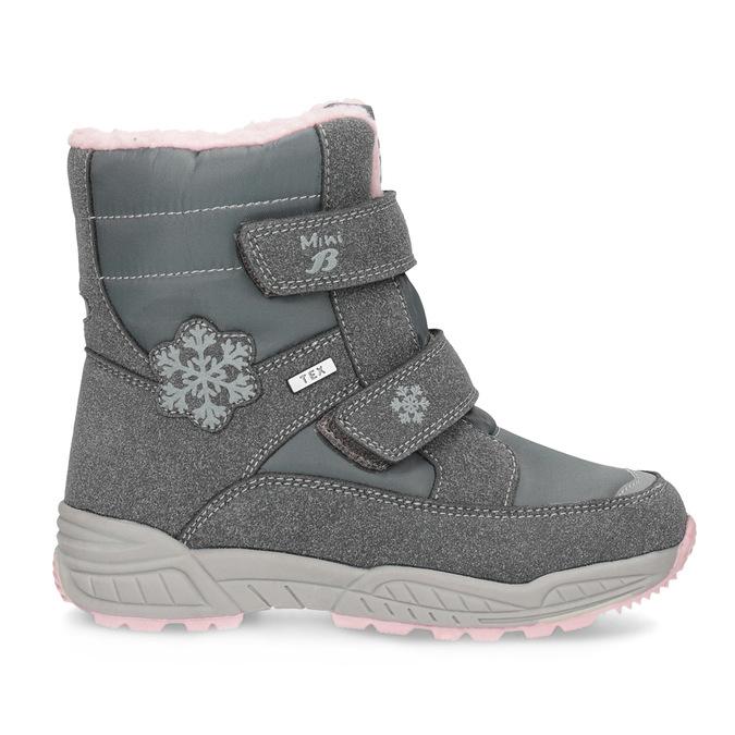 Mädchen-Schneestiefel mit Fell mini-b, Grau, 291-2625 - 19