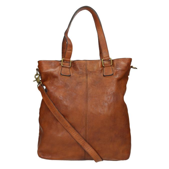 Damenhandtasche aus Leder bata, Braun, 964-3245 - 16