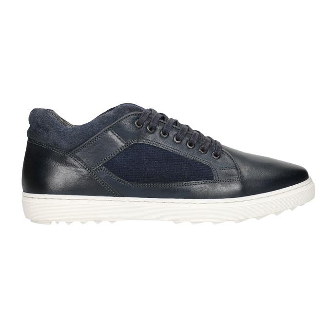 Herren-Sneakers aus Leder bata, Schwarz, 846-6643 - 26