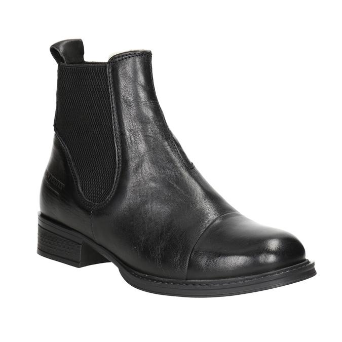 Knöchelschuhe aus Leder mit elastischen Seitenteilen ten-points, Schwarz, 516-6091 - 13