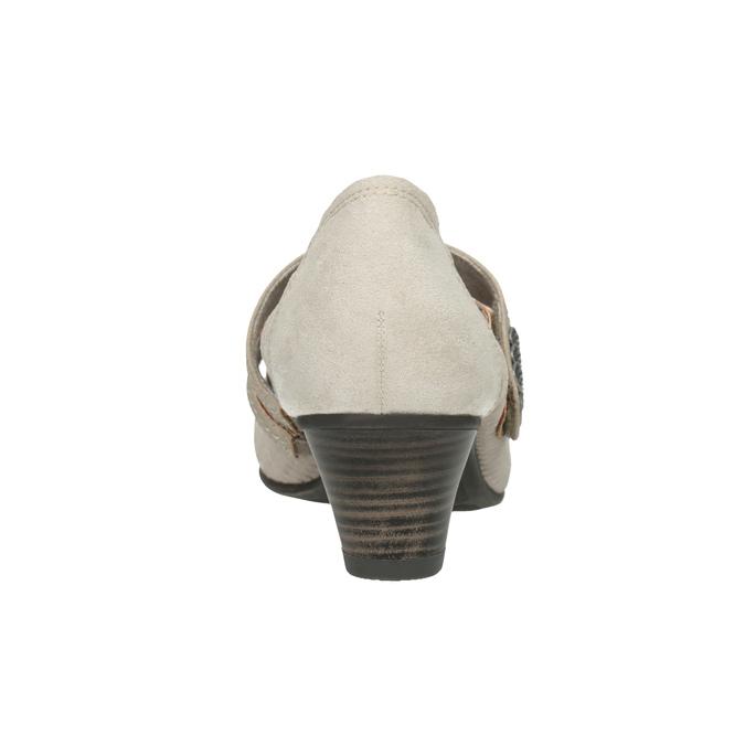 Lederpumps der Weite H bata, Grau, 623-2600 - 16