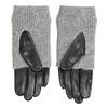 Lederhandschuhe mit gestricktem Detail bata, Grau, 904-2125 - 16
