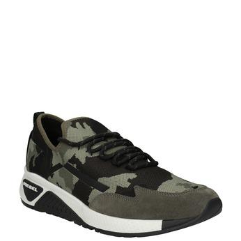 Herren-Sneakers mit Muster diesel, Grűn, 809-7602 - 13