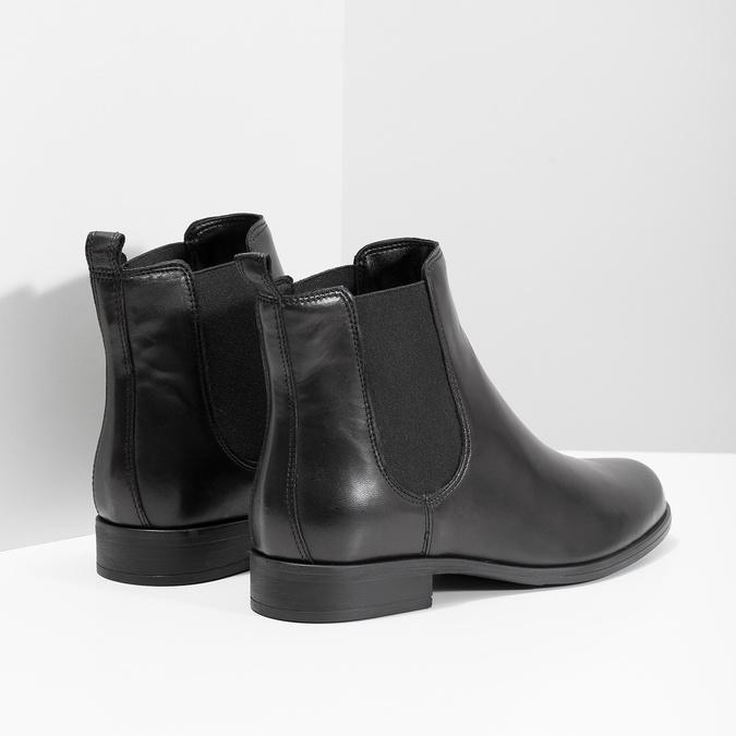 Damen-Chelsea-Boots aus Leder bata, Schwarz, 594-6661 - 16
