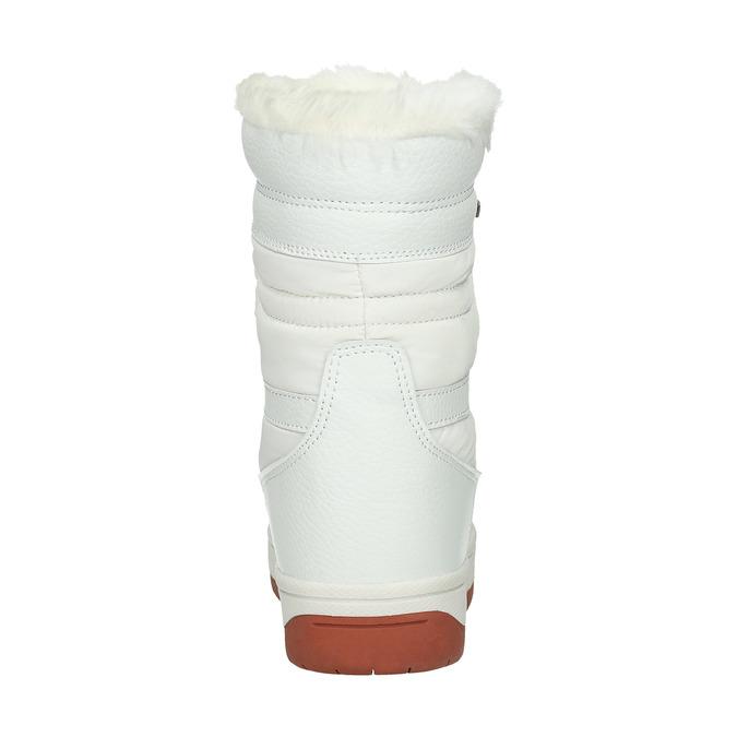 Weiße Damen-Schneestiefel mit Fell bata, Weiss, 599-1617 - 17