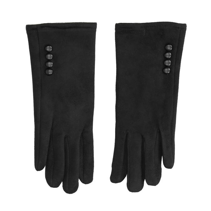 Damenhandschuhe aus Textil, Schwarz, 909-6612 - 26