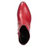 Rote Lederstiefeletten bata, Rot, 594-5665 - 17