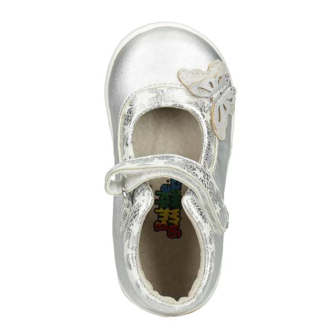 Silberne Mädchen-Ballerinas bubblegummer, Grau, 121-2620 - 15