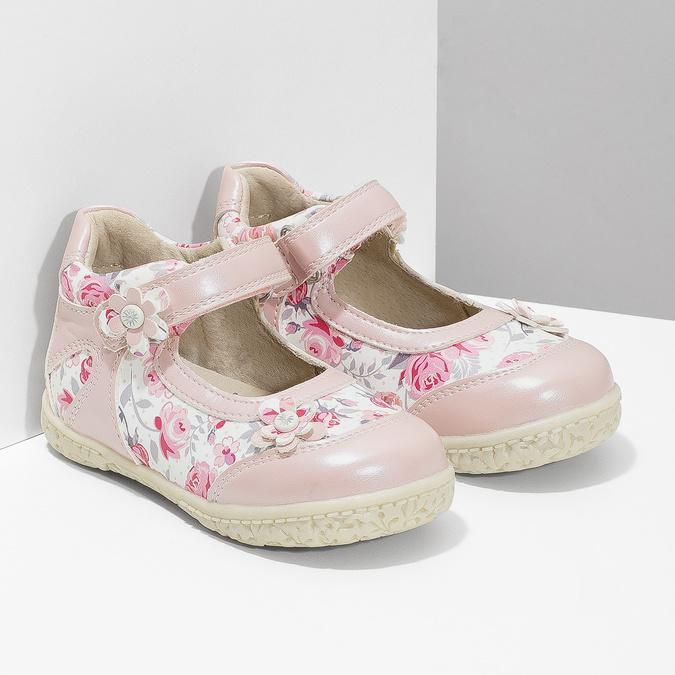 Gemusterte, rosa Ballerinas bubblegummer, 121-5621 - 26
