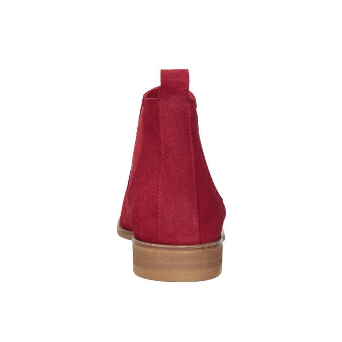 Rote Lederstiefeletten bata, Rot, 593-5611 - 15
