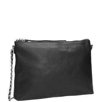 Schwarze Crossbody-Handtasche aus Leder bata, Schwarz, 964-6292 - 13