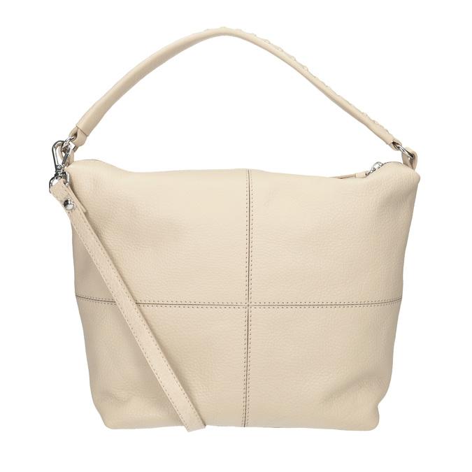 Cremefarbene Hobo-Handtasche aus Leder bata, Beige, 964-8290 - 16