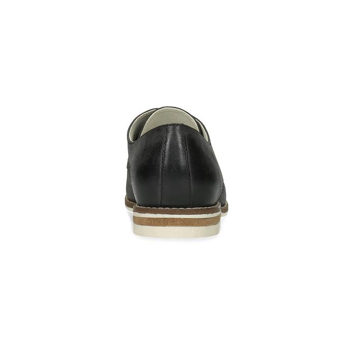 Damenhalbschuhe aus Leder bata, Schwarz, 526-6650 - 15