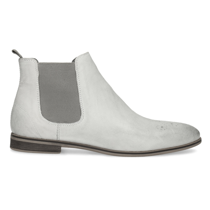 Damen-Chelsea-Boots aus Leder bata, Grau, 596-1684 - 19