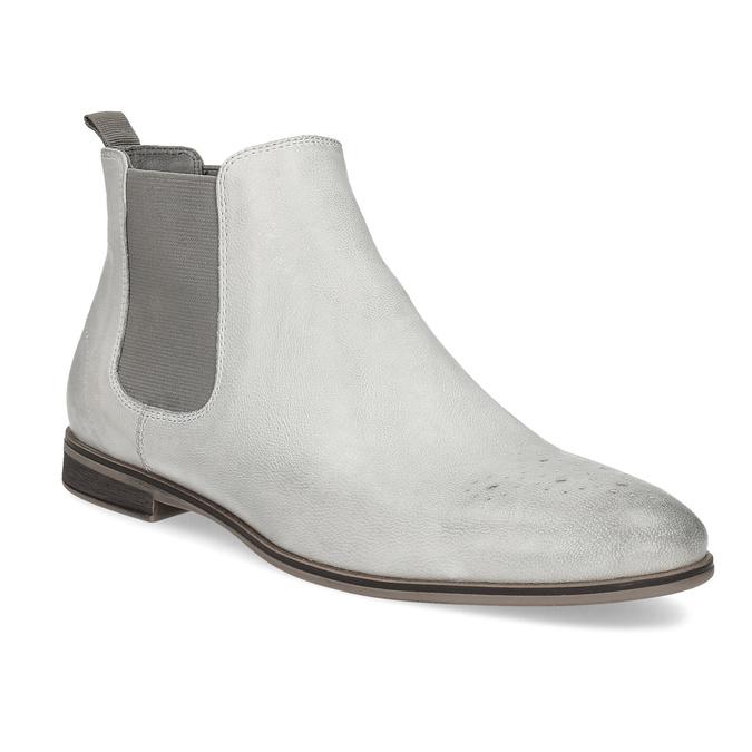 Damen-Chelsea-Boots aus Leder bata, Grau, 596-1684 - 13