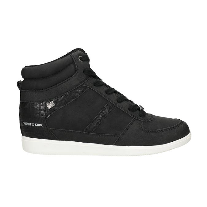 Knöchelhohe Damen-Sneakers north-star, Schwarz, 641-6600 - 16