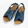 Damensandalen aus Leder weinbrenner, Blau, 566-9628 - 16