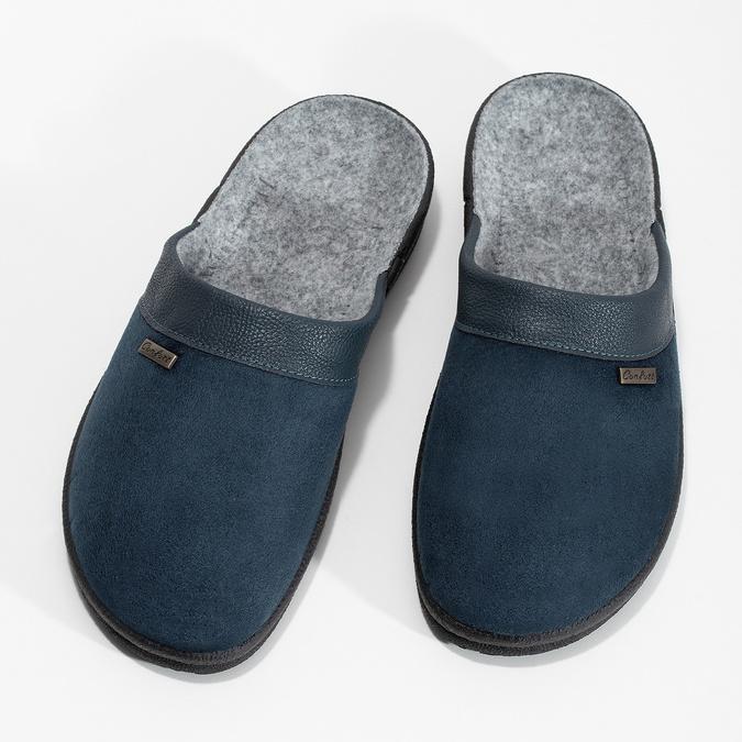 Herren-Hausschuhe bata, Blau, 879-9600 - 16