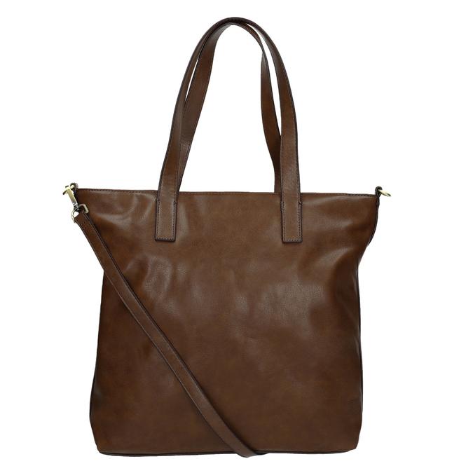 Damenhandtasche mit asymmetrischem Reissverschluss bata, Braun, 961-3847 - 16