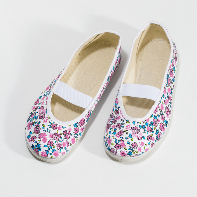 Kinder-Turnschuhe mit Muster, Weiss, Rosa, 379-5001 - 16